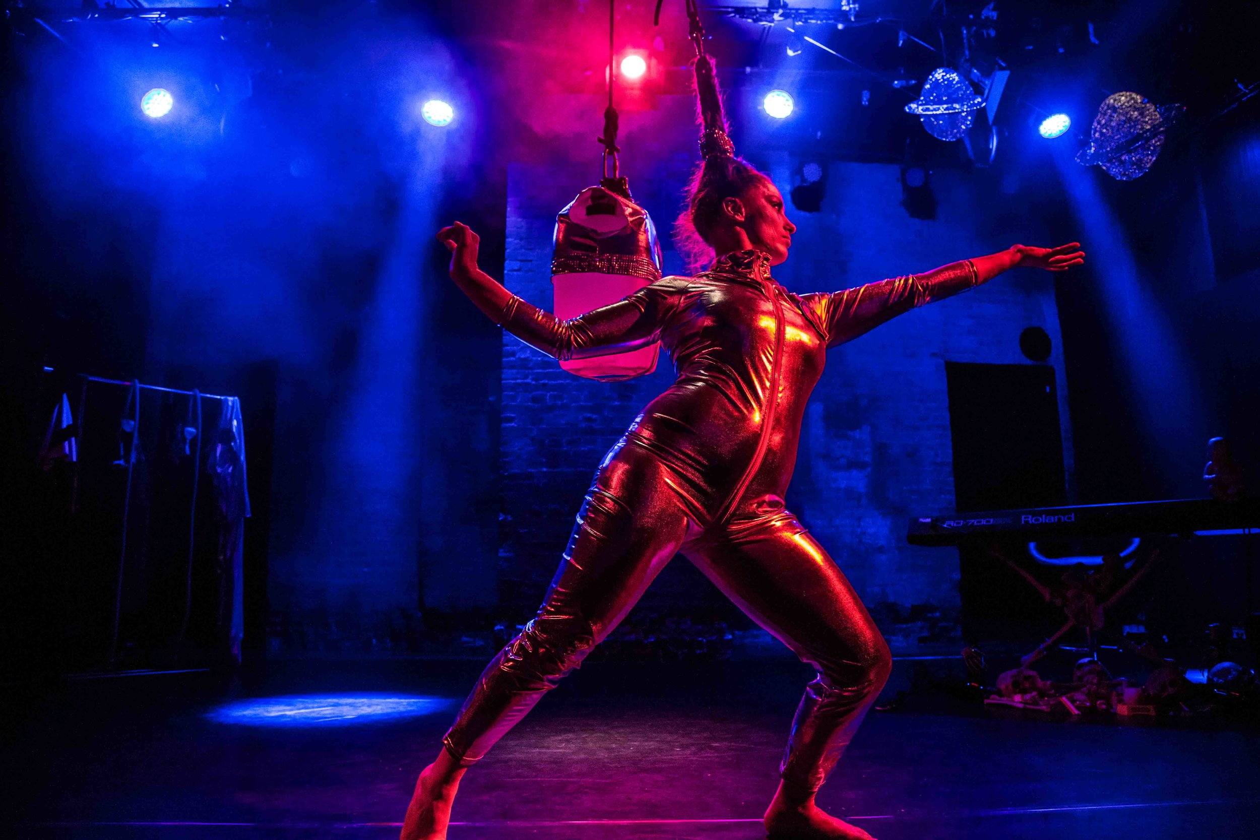 Fram + Dunt - Circus meets IT consultationPerformed by Francesca Hyde and Joe HydeDirected by Ellie DuboisSet/Lx/video/costume design by MHz