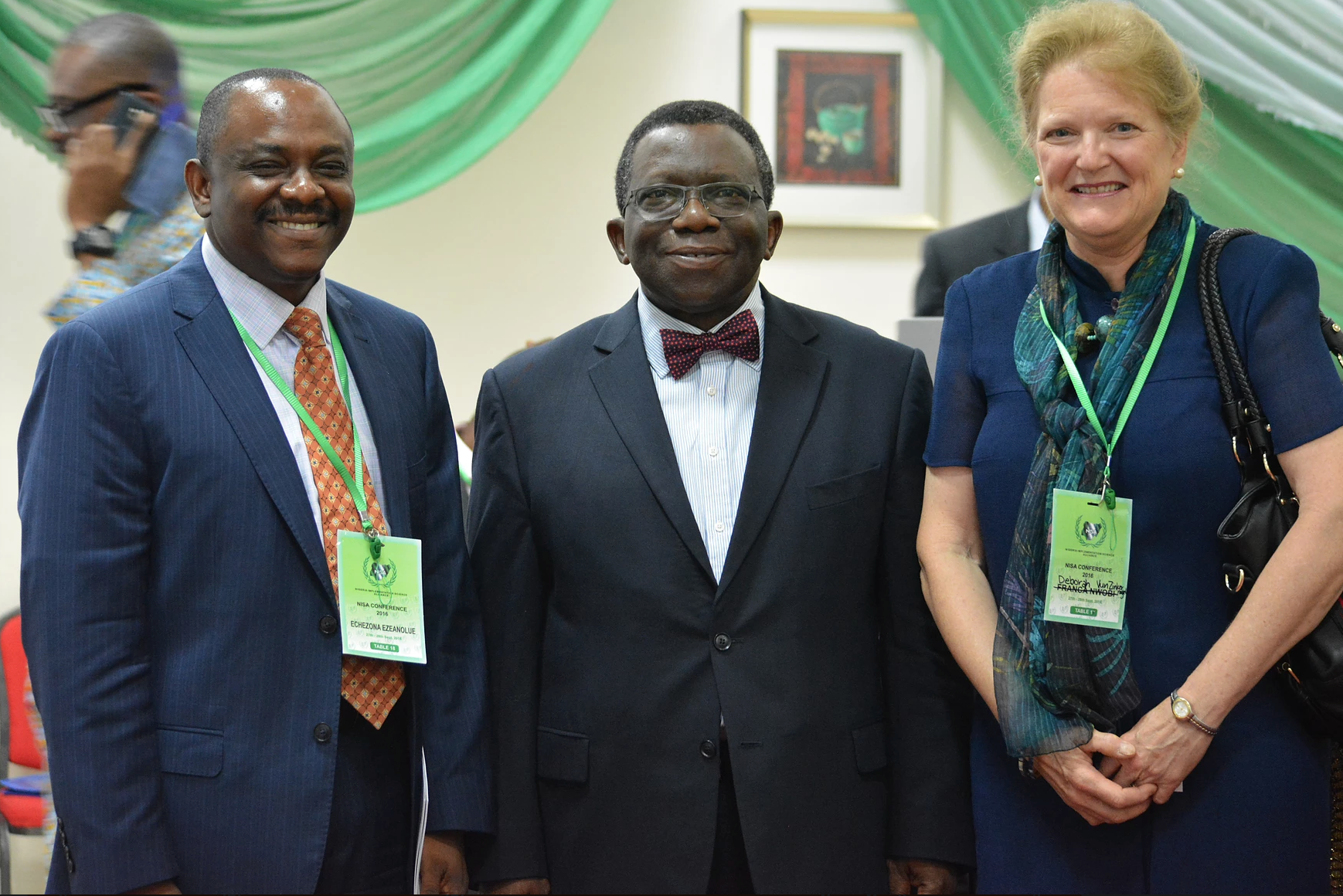 Dr. Echezona Ezeanolue with Nigeria Minister of Health and UNAIDS Staff.
