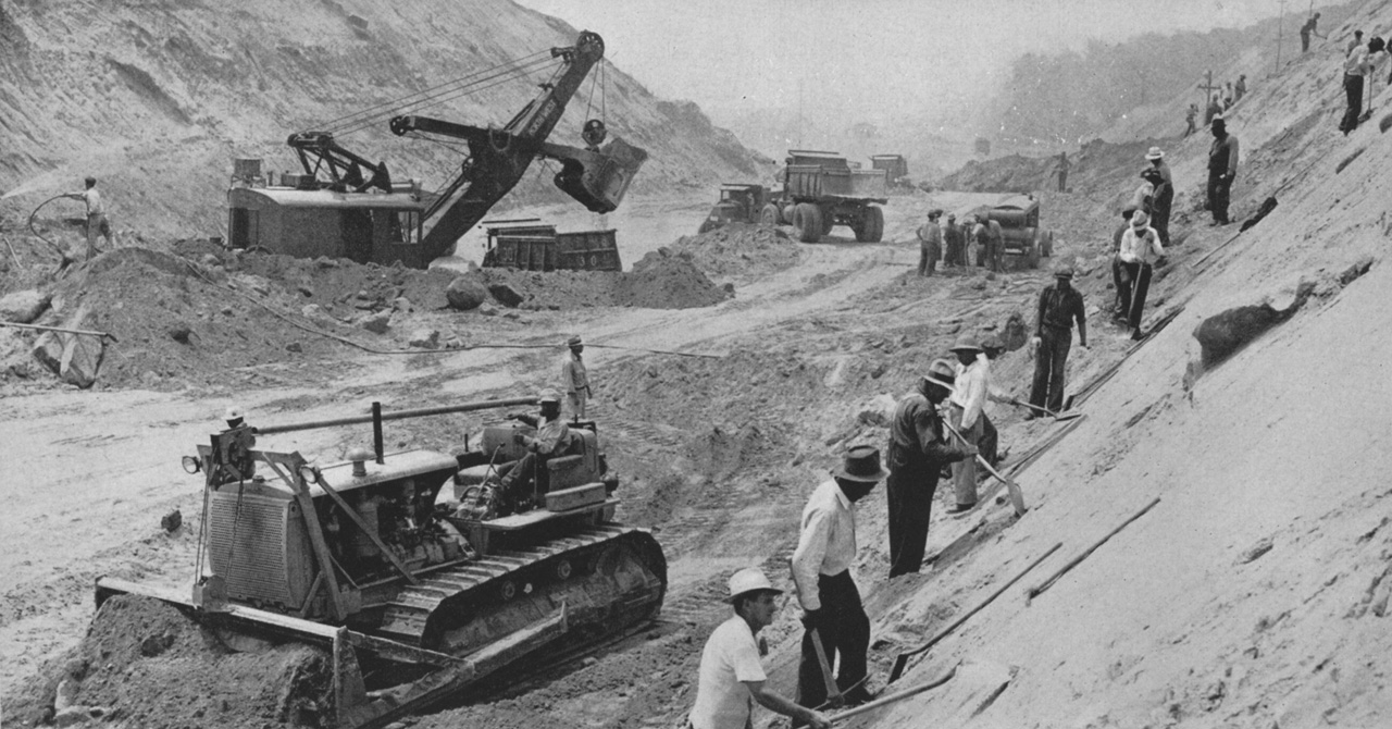 27. Removing a mountain for the Arroyo Seco Parkway, 1941