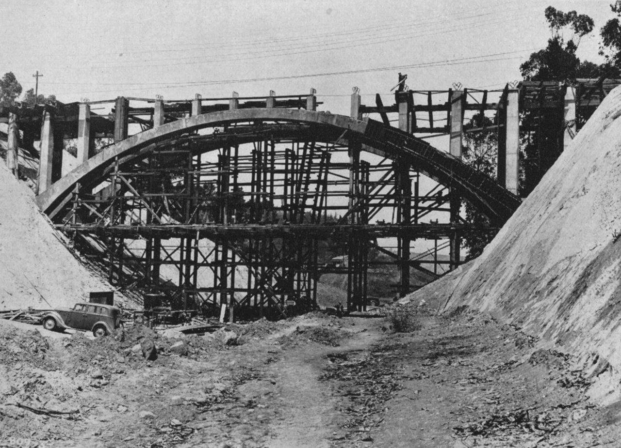28. Park Row Dr. Bridge under construction, 1941