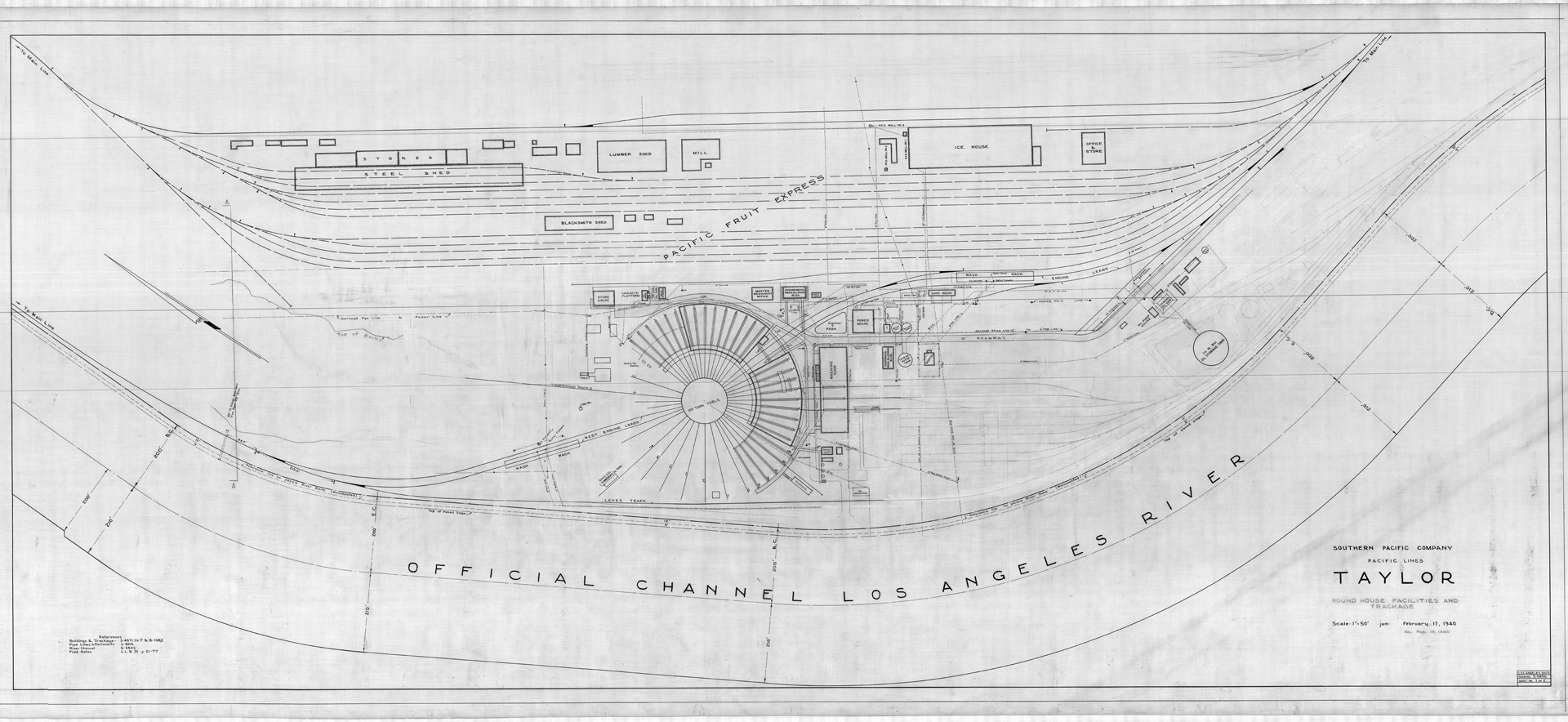 6. Plan of Taylor Yard, 1920