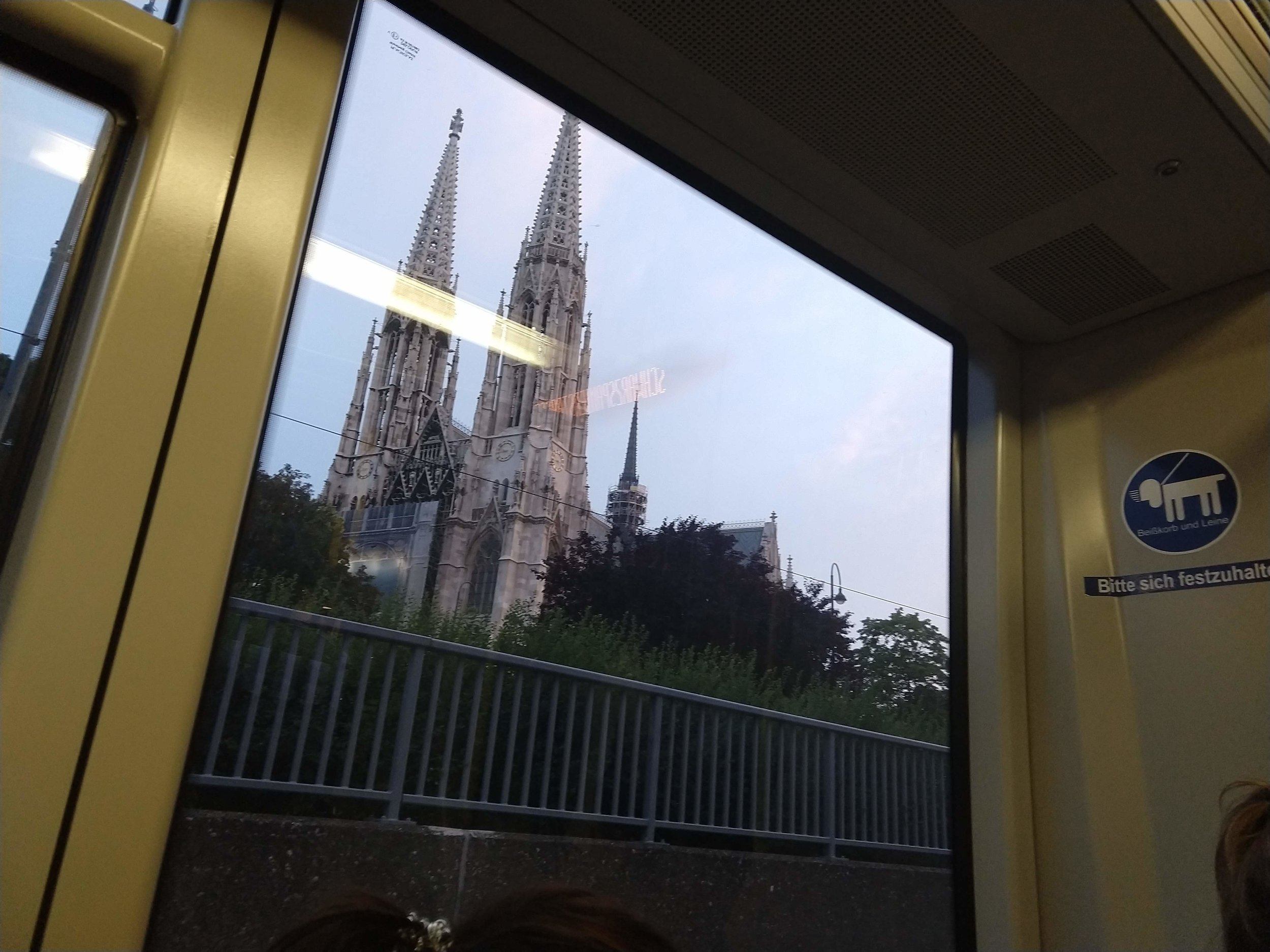 View from my train ride to the Airbnb.