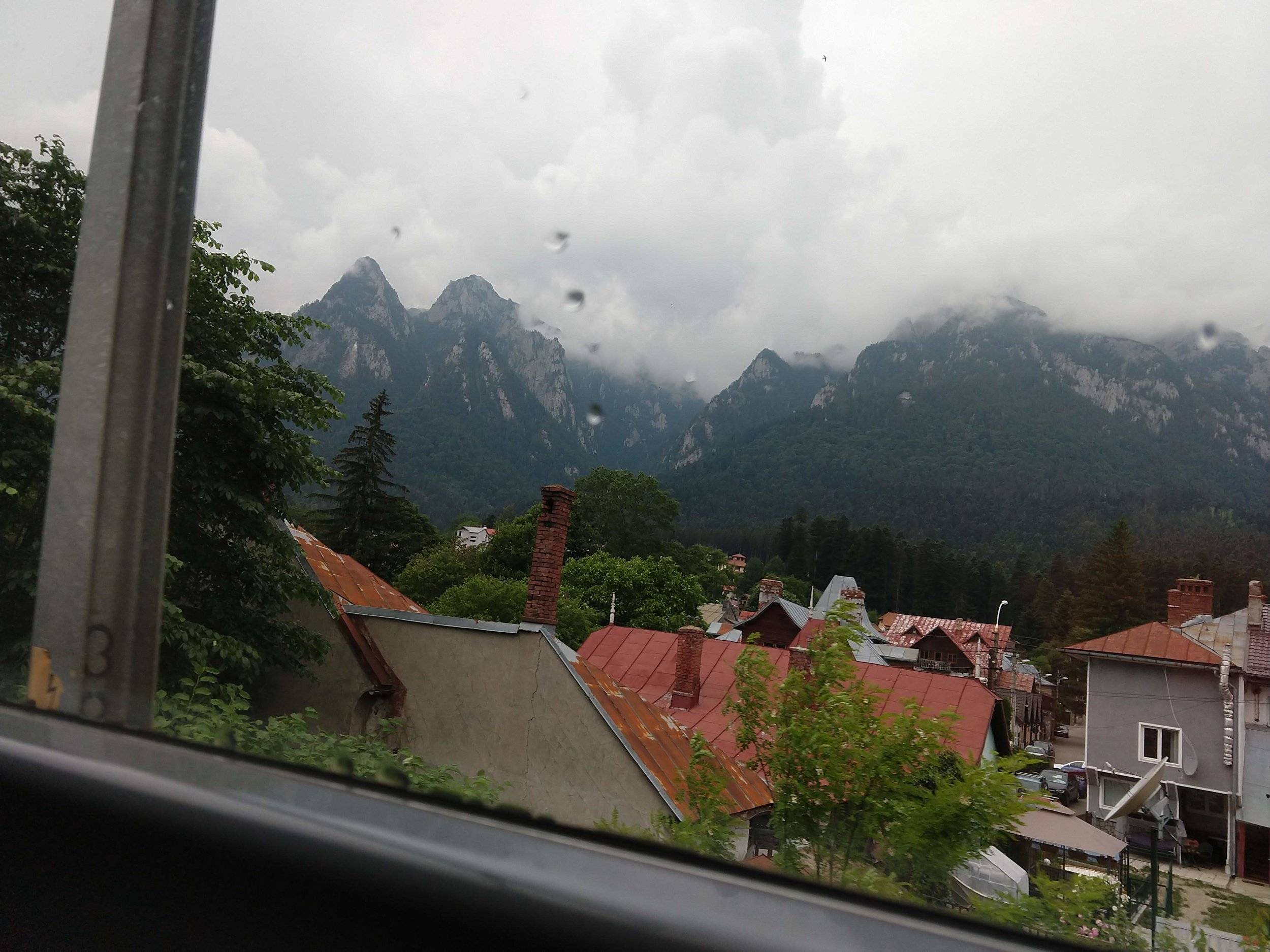 A glimpse of the mountains near Romania's Predeal pass.