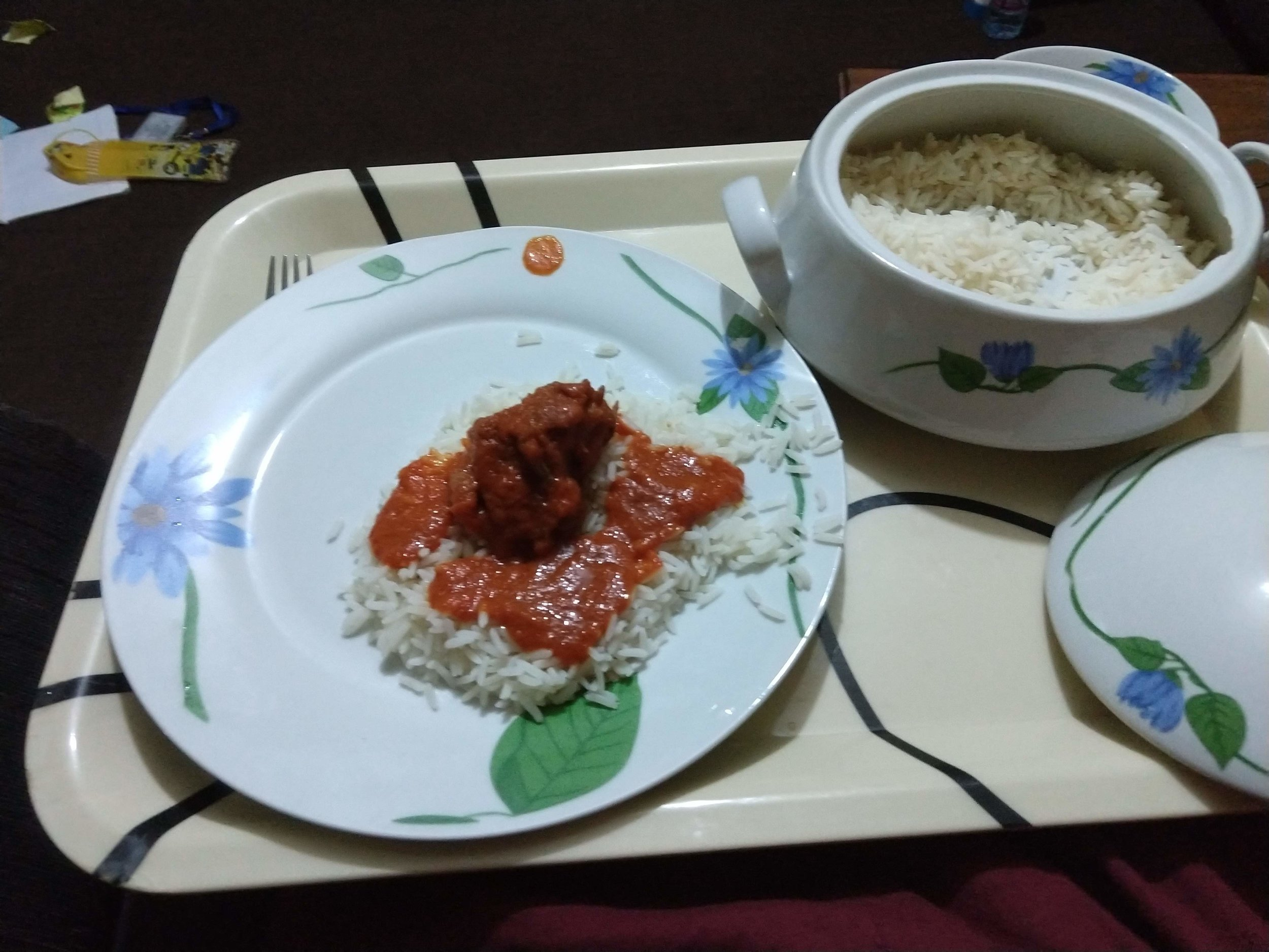 One of my first tastes of homemade Nigerian food.