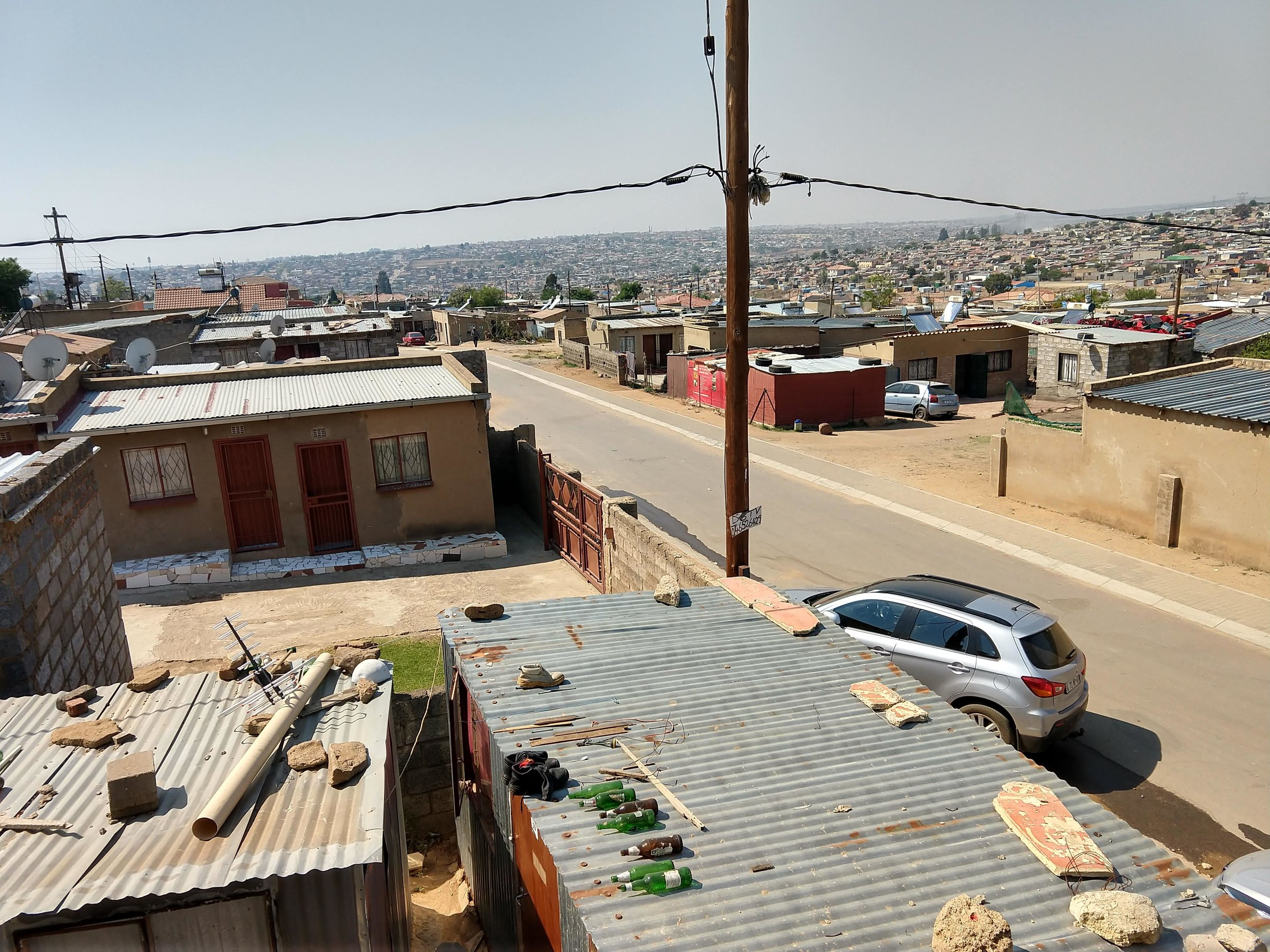 Homes in the Tembisa township I visited outside Pretoria, South Africa.