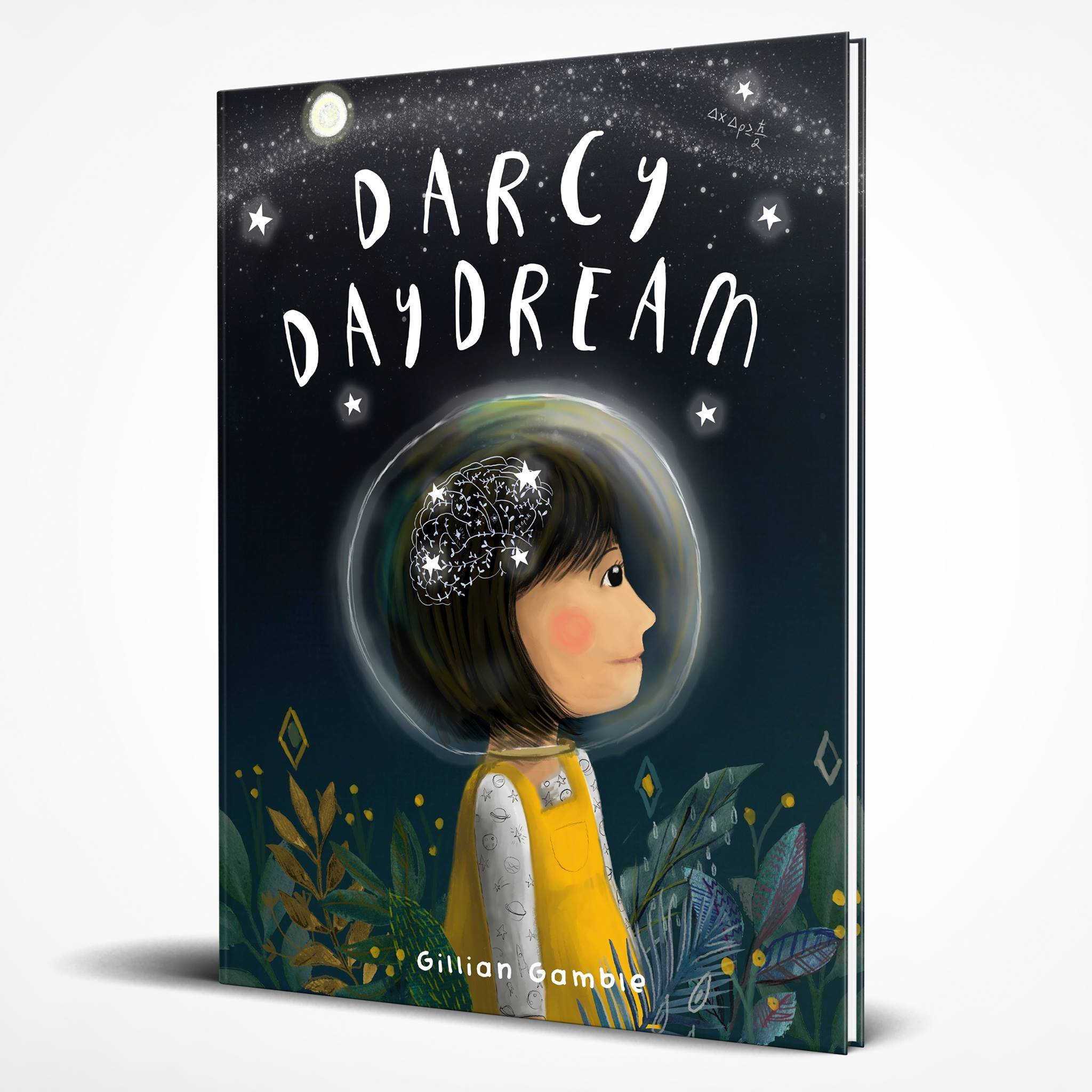 My new book 'Darcy Daydream' will be published by Bobble Hat Books in late 2019.    What happens when we realise for the first time that we are just a little speck of stardust in an infinite universe? How do we make sense of things? How do we explore and wonder but still have a sense of safety?     Darcy is a small girl with a rich interior life, a vivid imagination and an endless supply of big questions, most of them unanswerable. Often said to have her 'head in the clouds', she spends countless hours in the safe world of her garden; daydreaming, building things and creating whole worlds inside her fantastical mind.    One day though, Darcy realises there is a LOT more world outside the garden. Her curiosity leads her to further and further new horizons until she finds herself out in space, constantly propelled by the same questioning and wonder that has caused humans to gaze up at the stars for thousands of years in search of meaning and adventure. What is out there? What is around the next corner?    This story is all about being 'ok' with questions and curiosity. This book deals gently with the concept that sometimes the 'great unknown' can be a little scary, but ultimately reminds children they can feel grounded by knowing they are loved by those around them and that the original safety of home is still there.