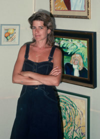 Marsha in her Florida gallery, 1985
