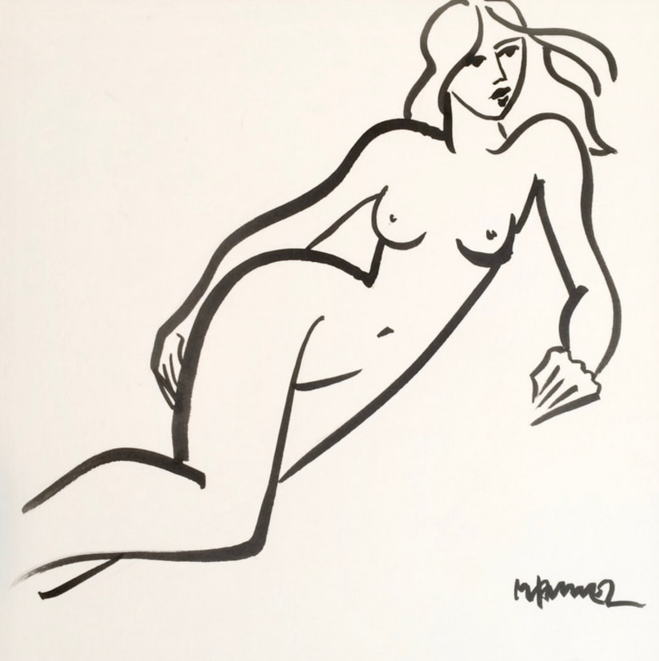 11.25 x 10.25 Nude Ink #1489