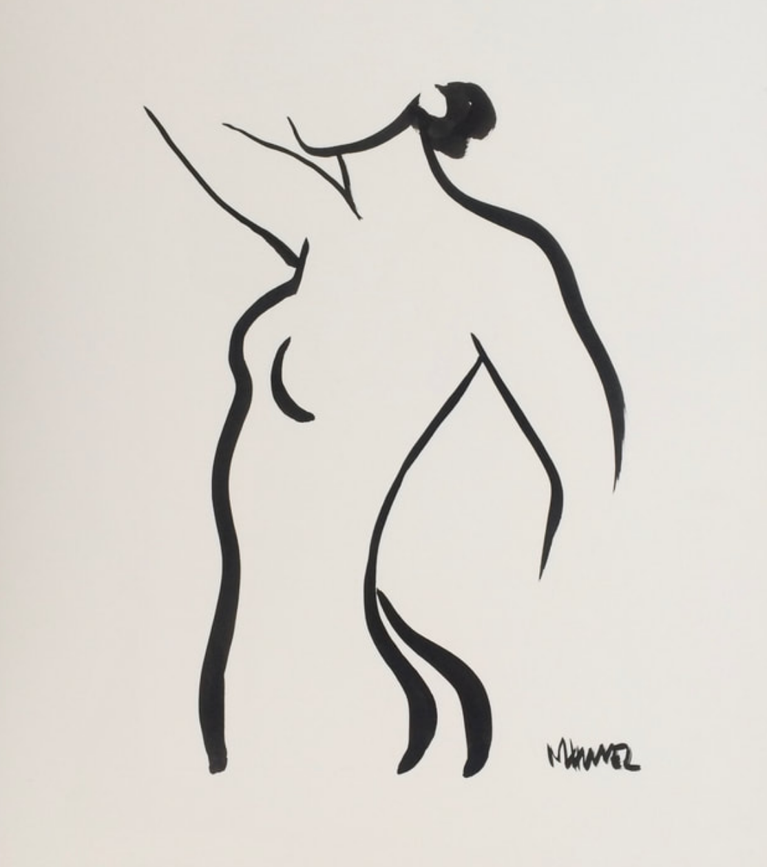20 x 16 Nude Ink #1334