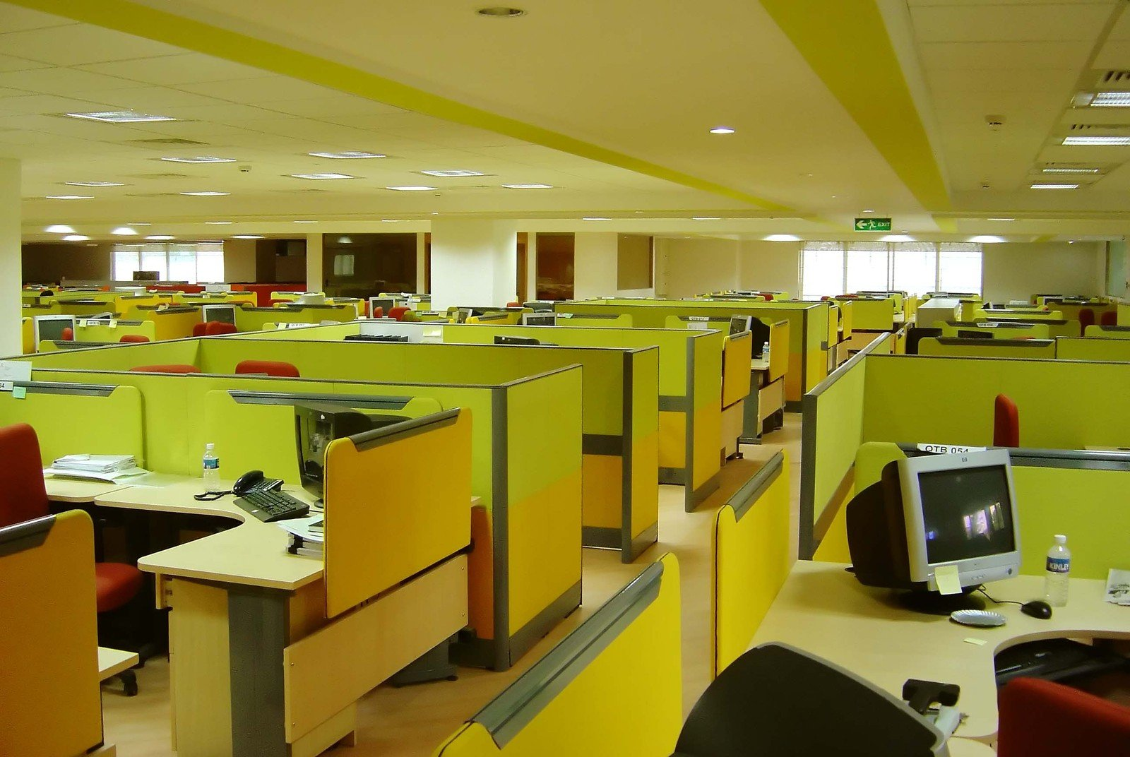 The Old Way - Cubicles as far as the eye can see. Not very inspiring.