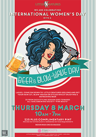 Event Poster for Little Creatures Brewery, Geelong.