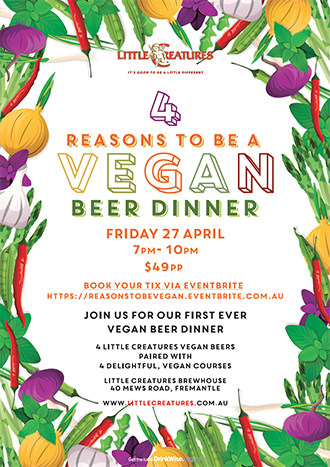 Event Poster for Little Creatures Brewery, Fremantle, Western Australia.