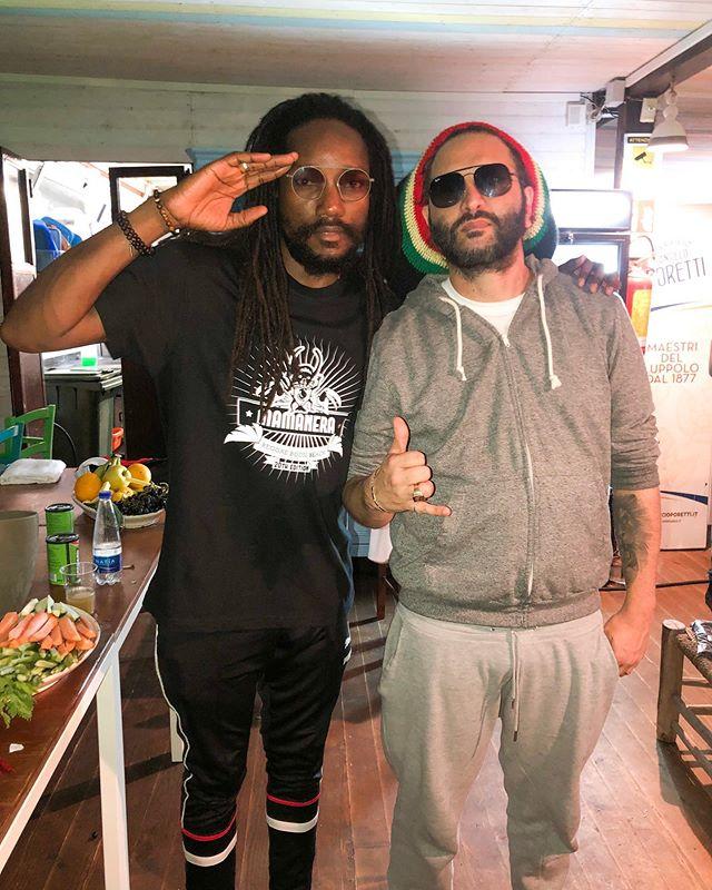 I&I and the Italian reggae godfather @alborosieofficial celebrating 20 years of #Mamanera with @heavyhammersound inna #Salento #Italy