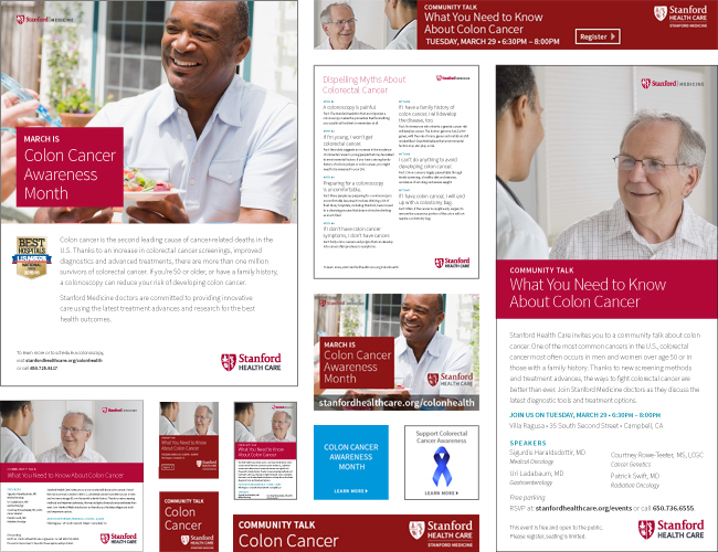 Colon cancer awareness campaign. Consisted of print ads, digital ads, and collateral.