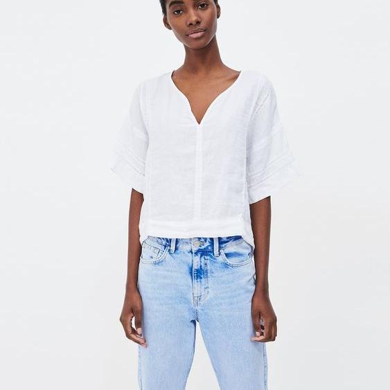 $40   Linen Lace Top