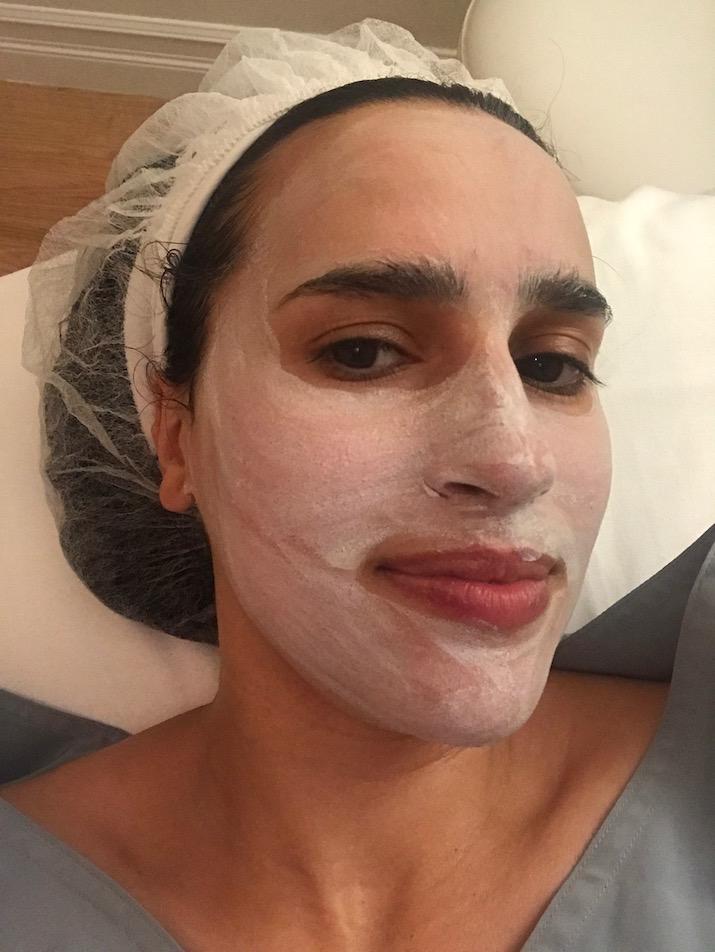 white mask nyc facial