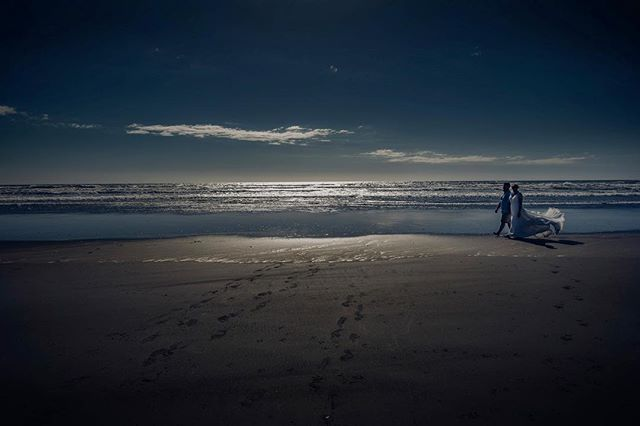 Shadow and light - #weddingsnz #weddingphotographernz #beachweddings #photosthatarelit #shadowandlight #nz #beachnz #seanz #weddings