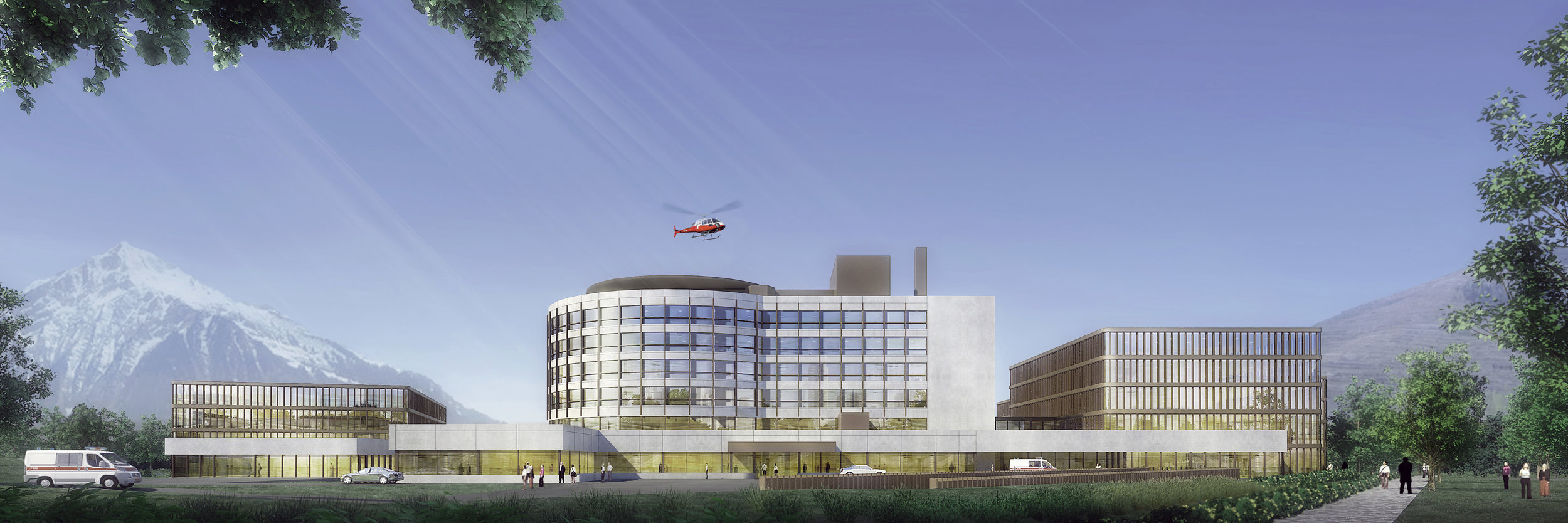 Extension of the Hospital of Brig  brig, switzerland