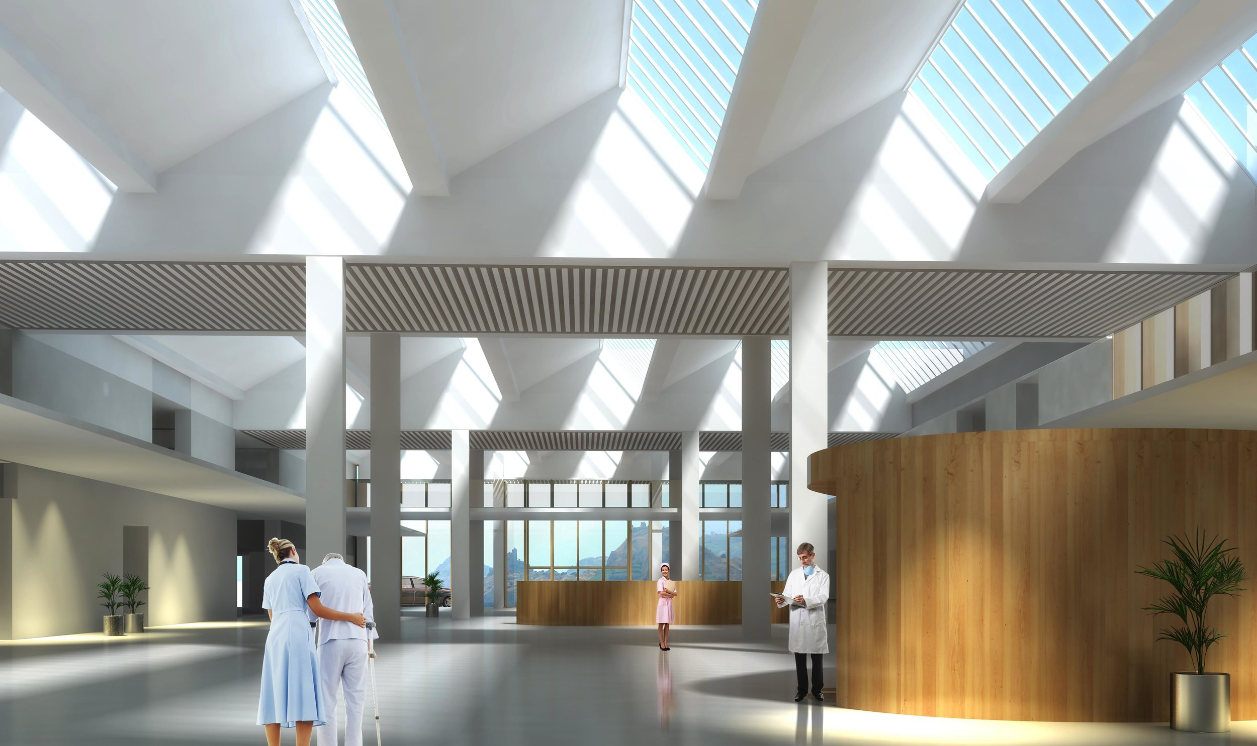 Extension of the Hospital of Sion  Sion,Switzerland