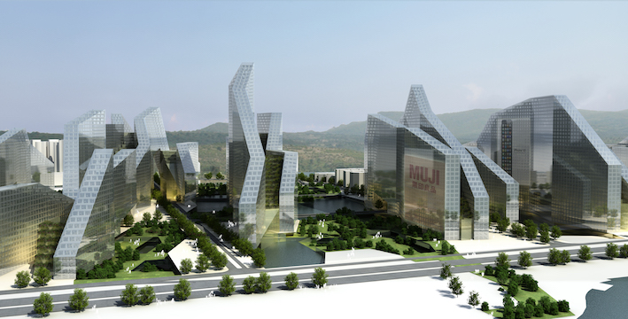 Shenzhen Bay 'Super City' urban and architectural design  shenzhen, china