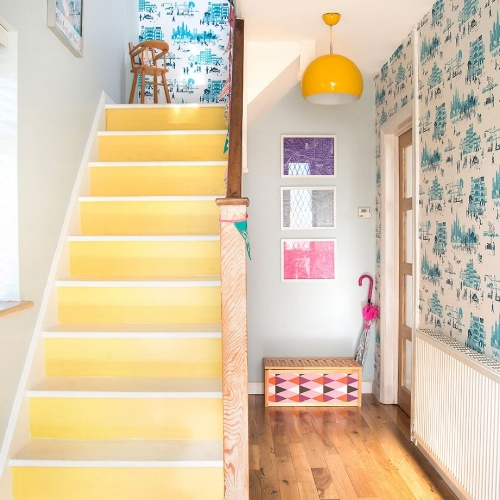 Yellow Painted Stairwell
