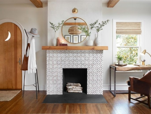 Tiled Fireplace Home