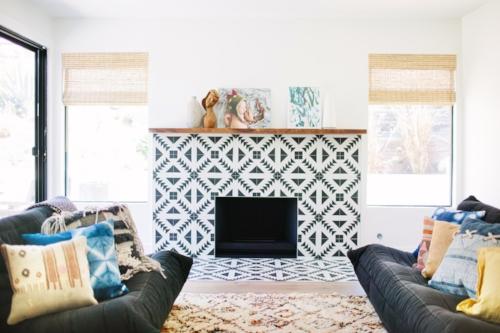 Lovely Tiled Fireplace