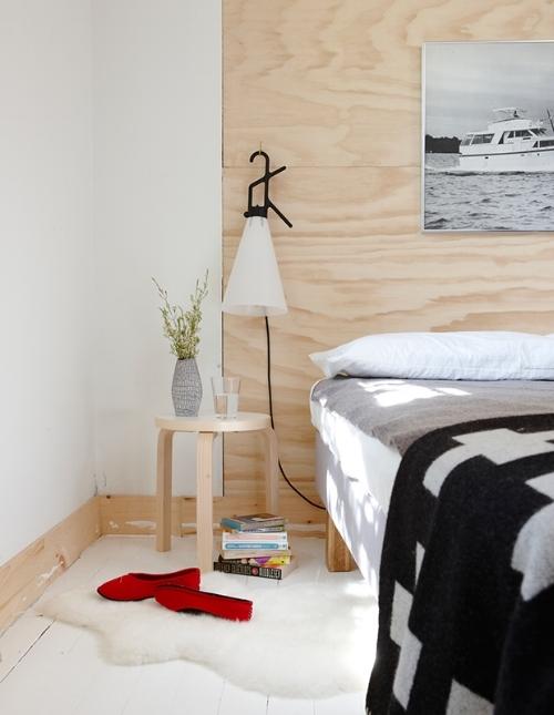 Plywood Wall Headboard