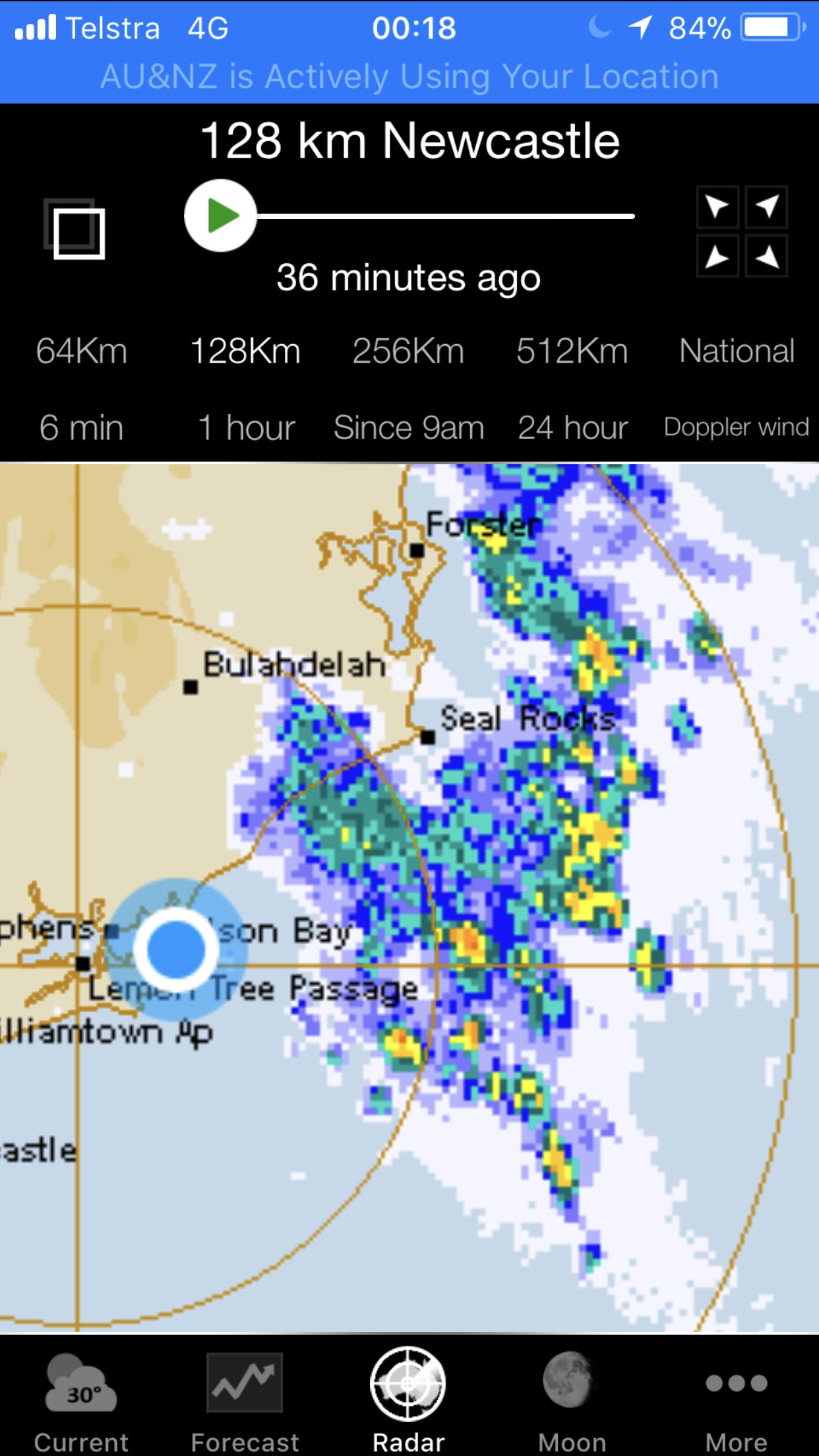 BOM weather radar