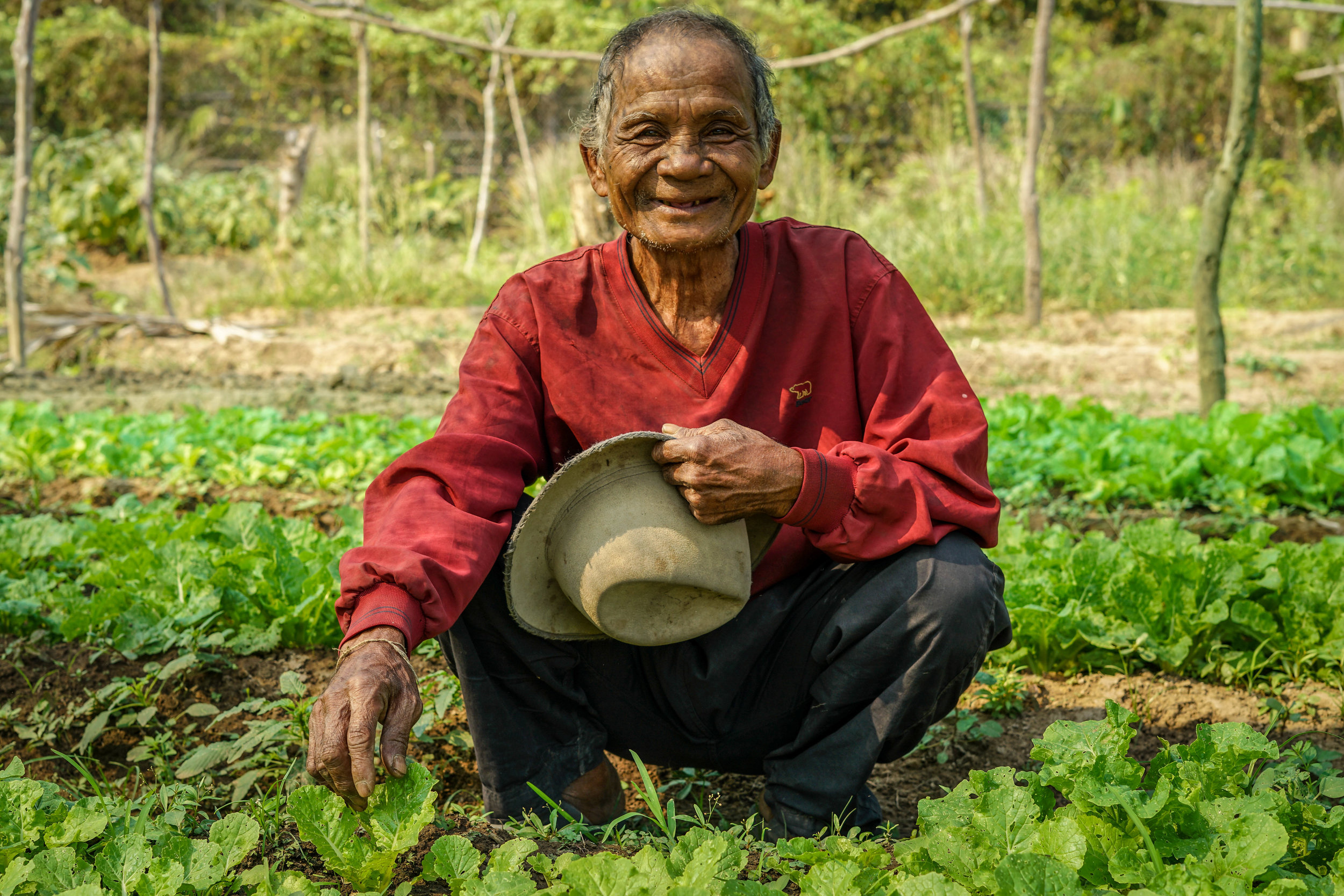 Farmer in his garden | Cambodia   ©LaurenKanaChan