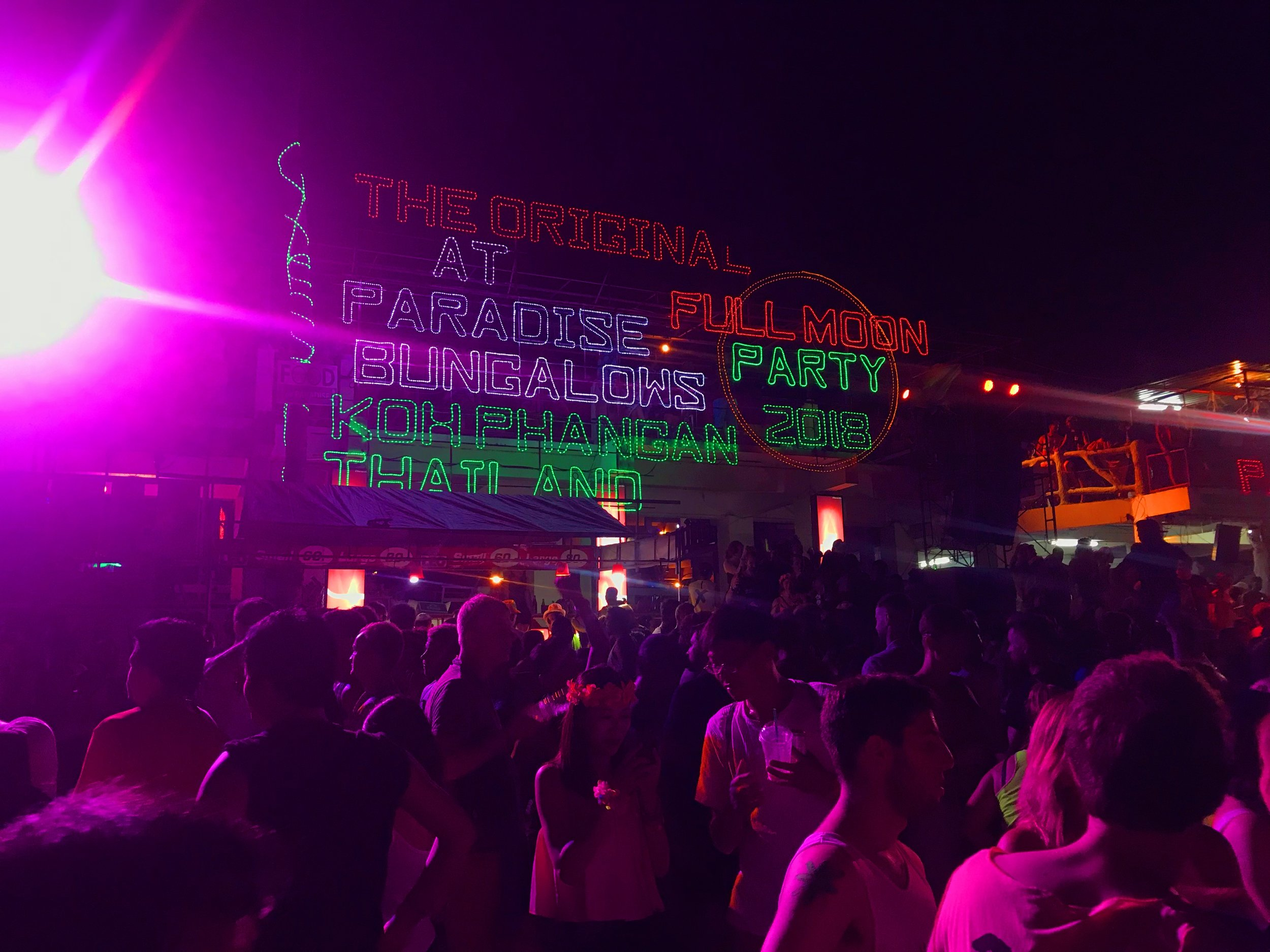 The Full Moon Party May 2o18 on Koh Phangan Beach