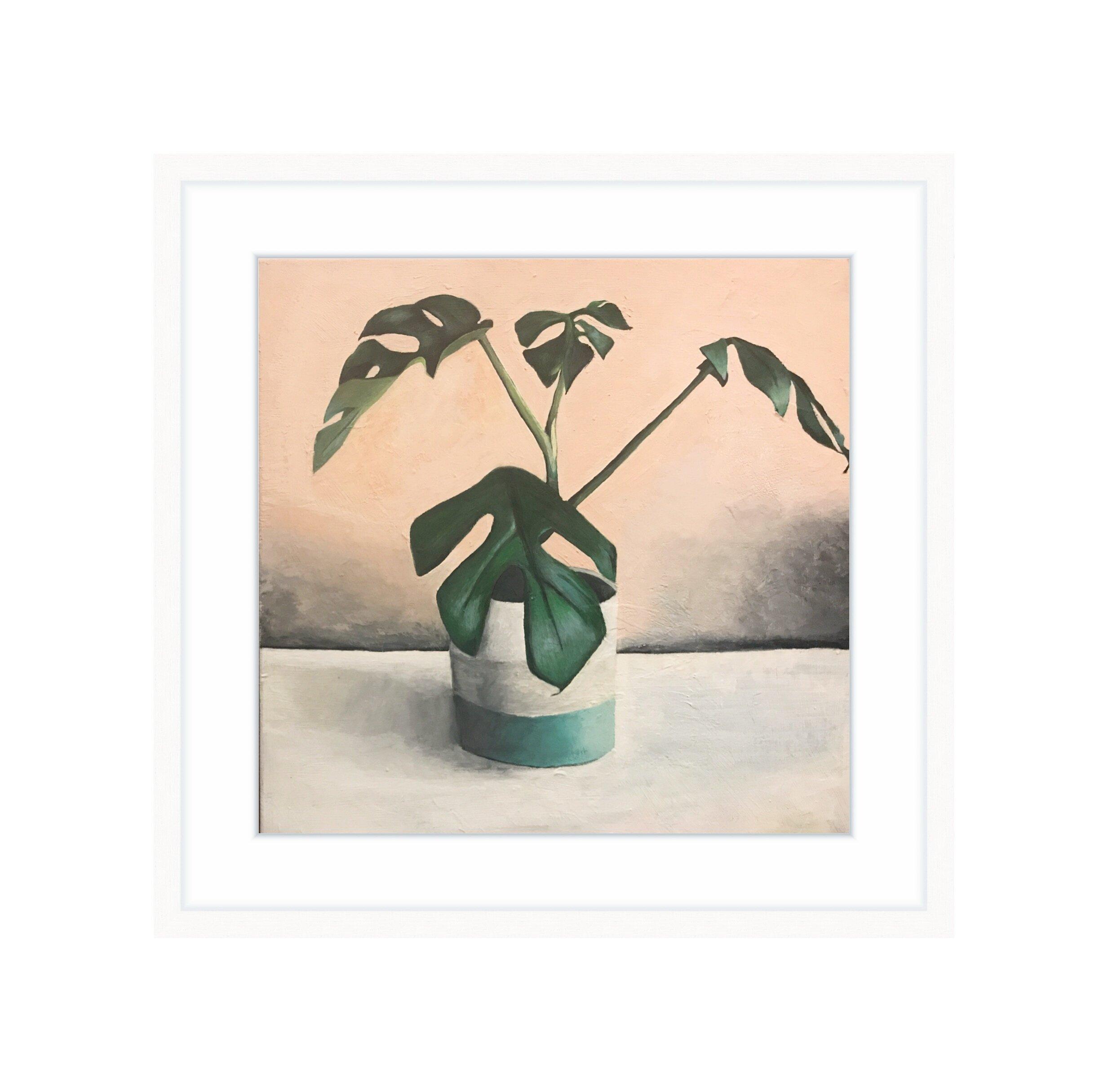 Rhaphidophora Tetrasperma   acrylic on canvas 12 in x 12 in / 30.48 cm x 30.48 cm
