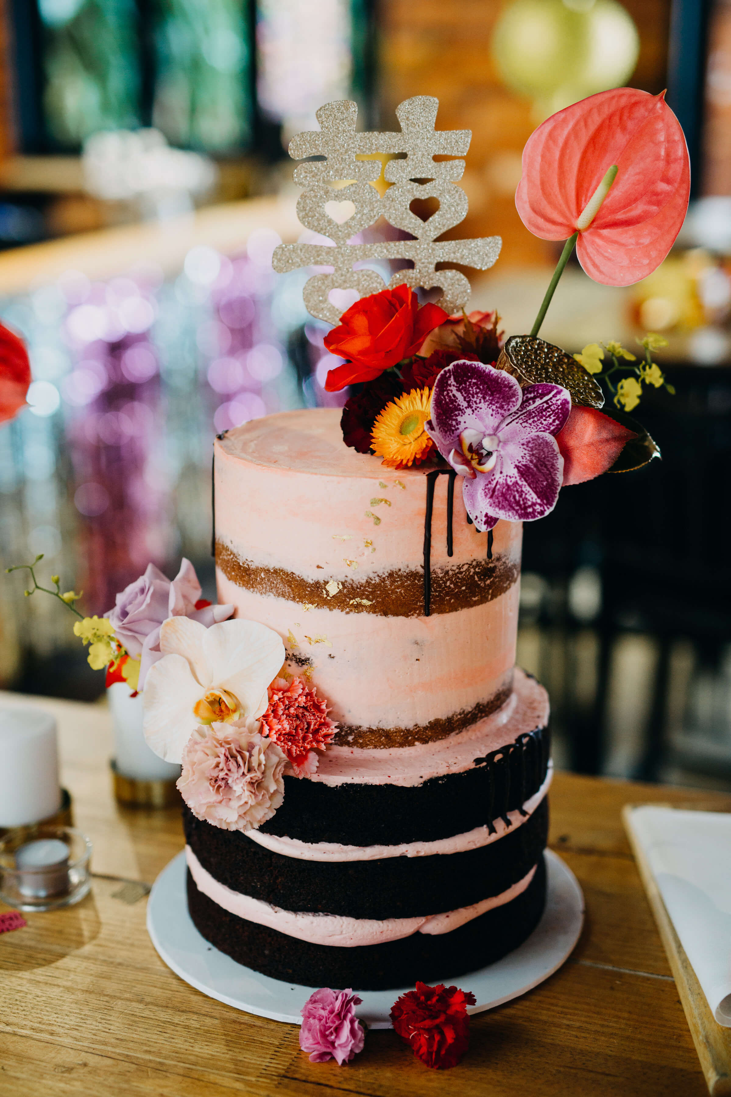 Cake, wedding, semi naked, flowers.jpg