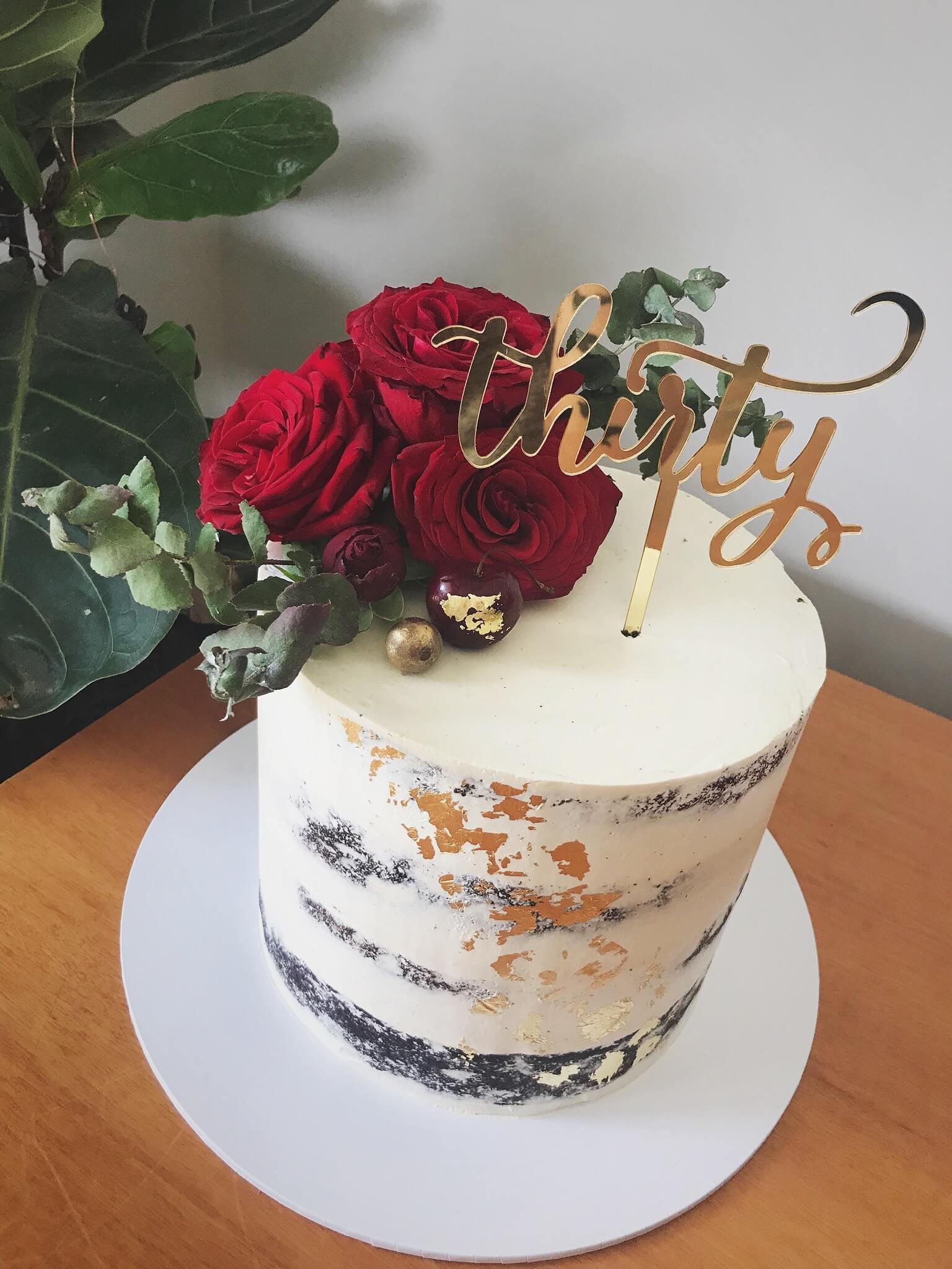 Cake, semi naked, flowers, birthday.jpg