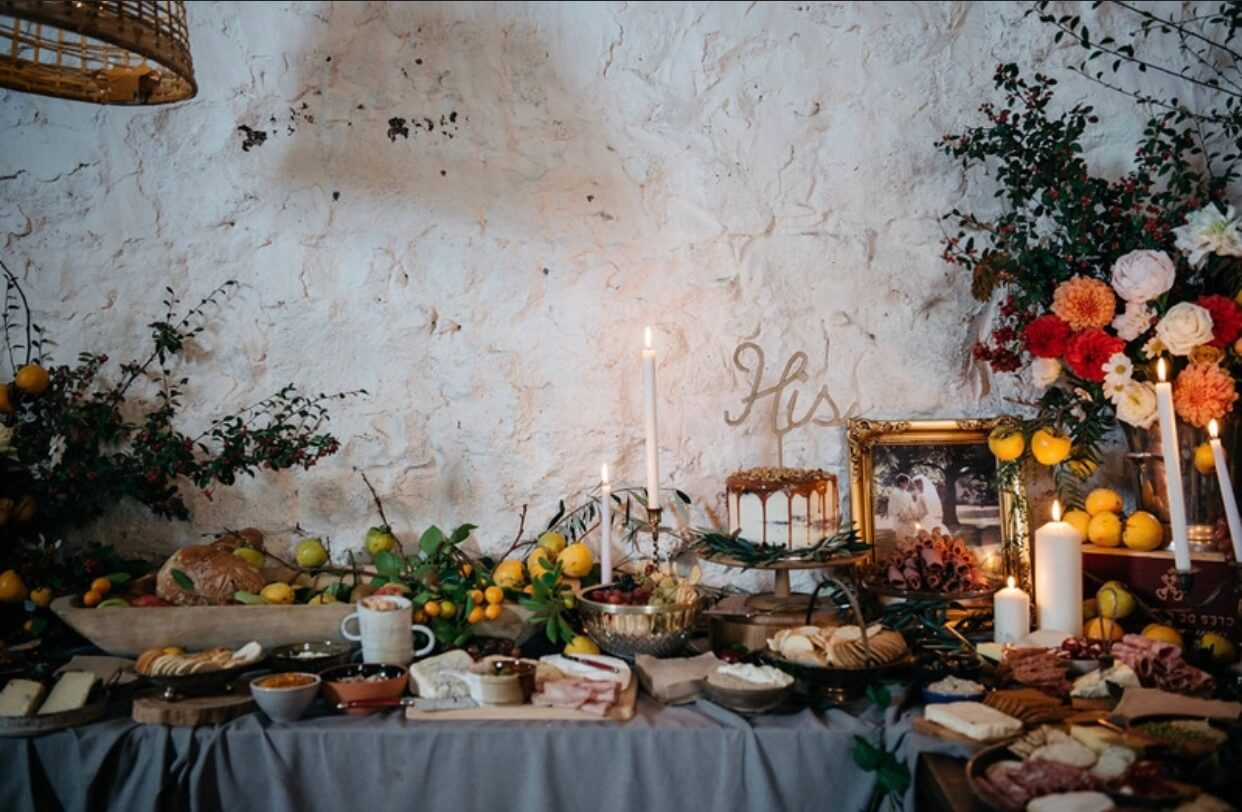 Cakes, grazing table, flowers, wedding.jpg