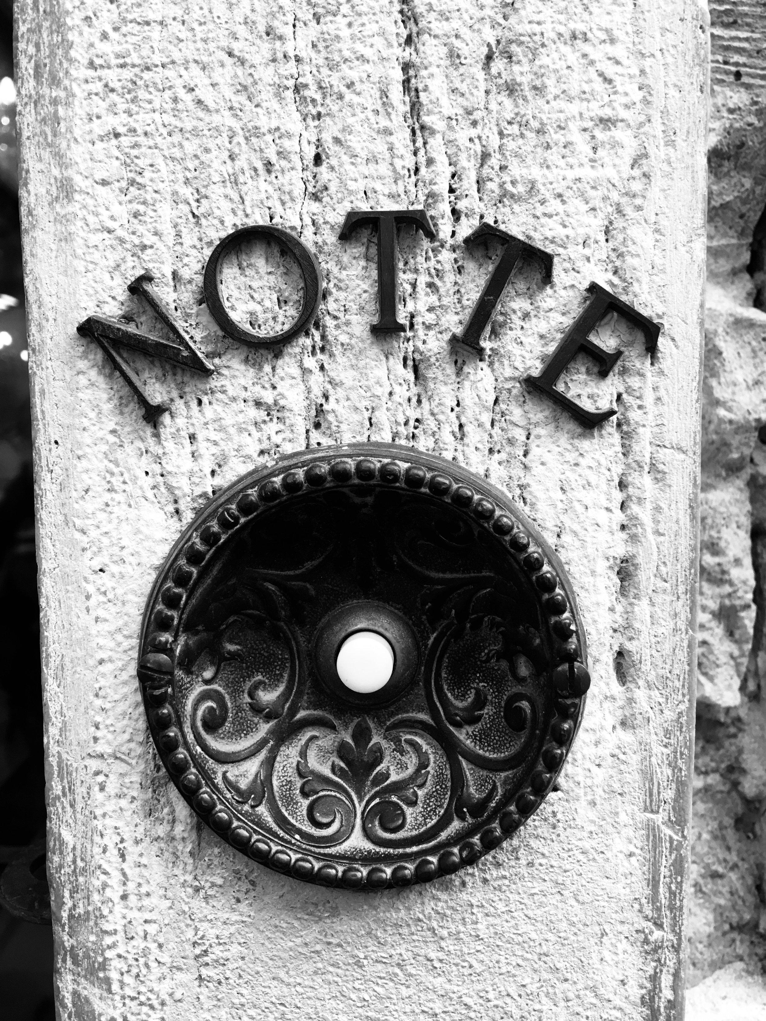 The night bell, Venice, Italy.