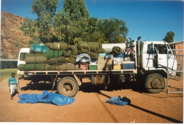 Country visit preparations, Areyonga, Western Desert (1998)