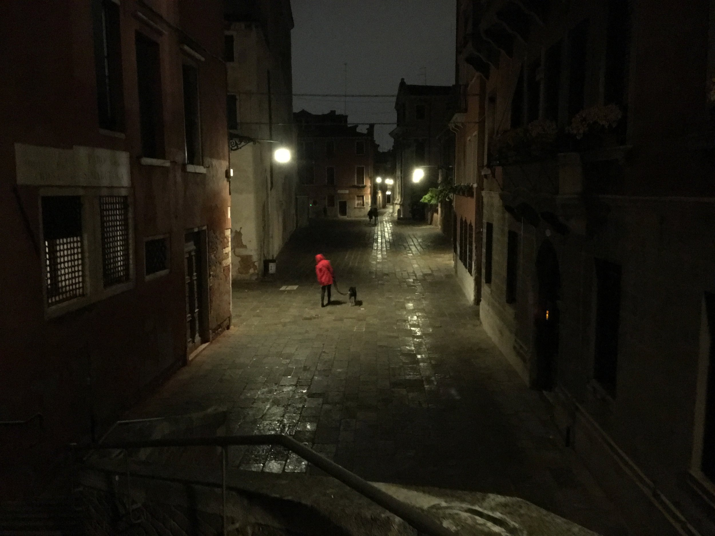 Red raincoat, Venice (2018)