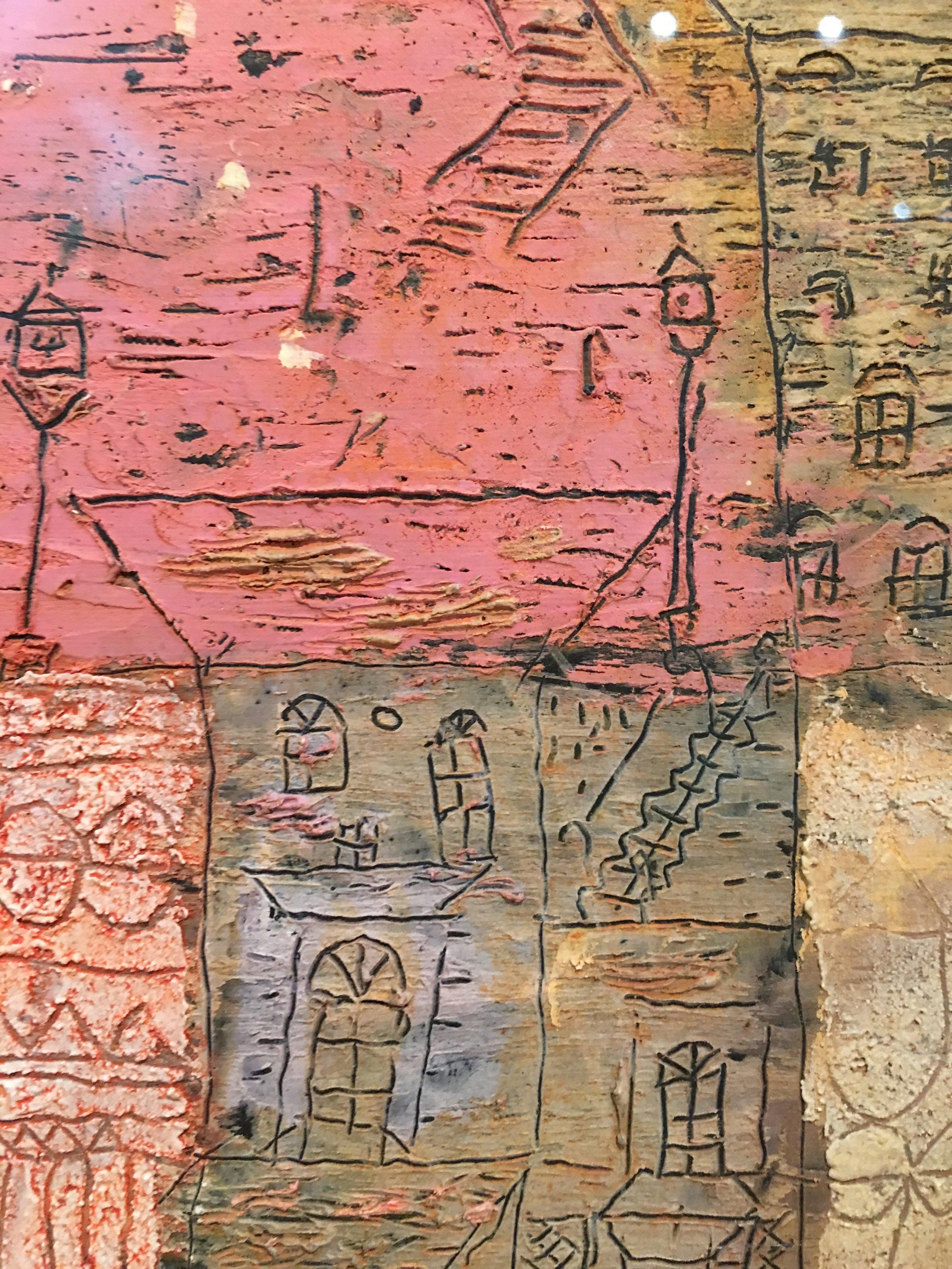 Detail from 'The villas of Florence' Paul Klee-1926 (Pompidou Centre-Paris, France)