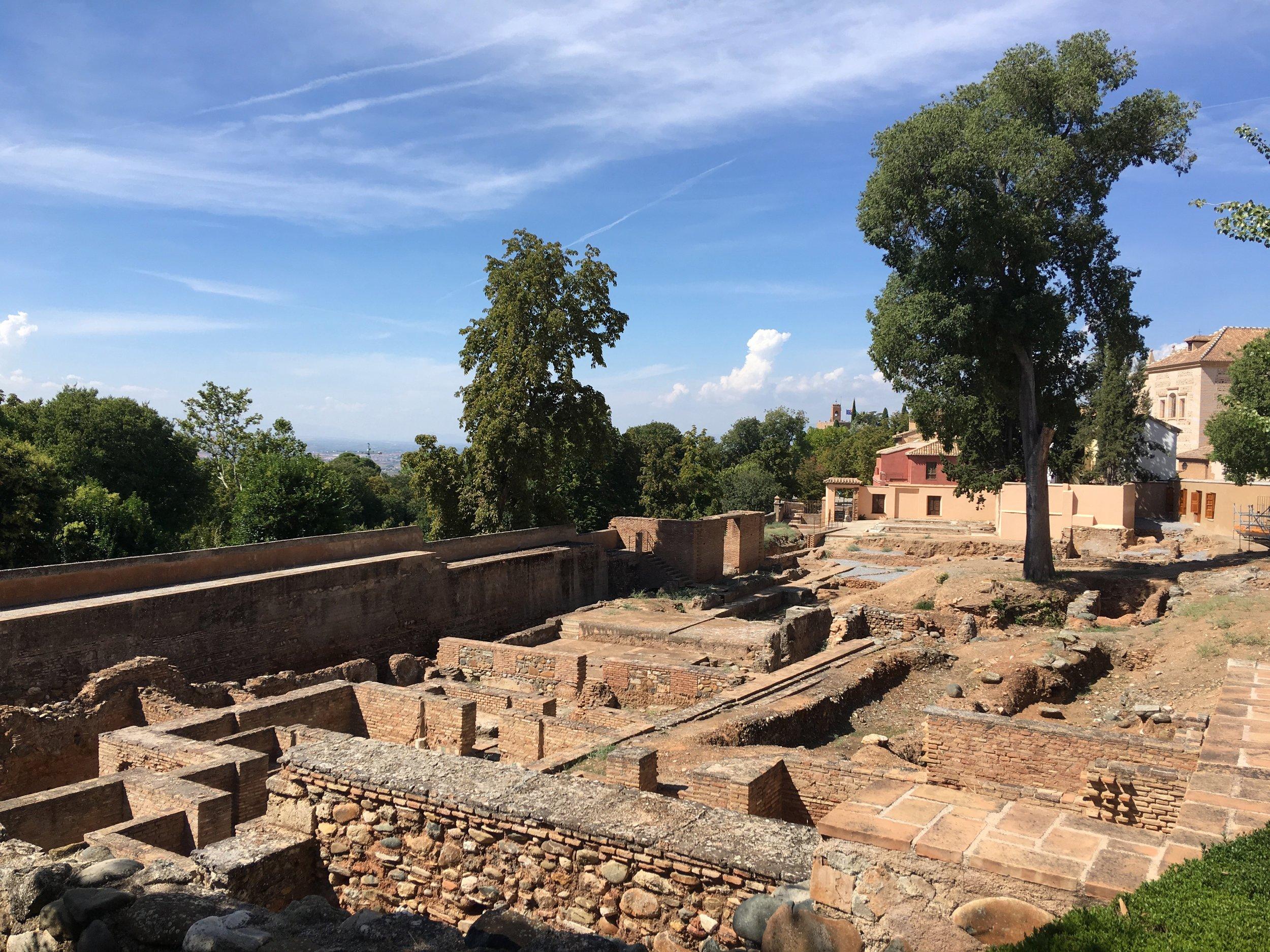 Layers of history: ancient Roman gardens beneath the Islamic Alhambra Gardens, Granada-Spain