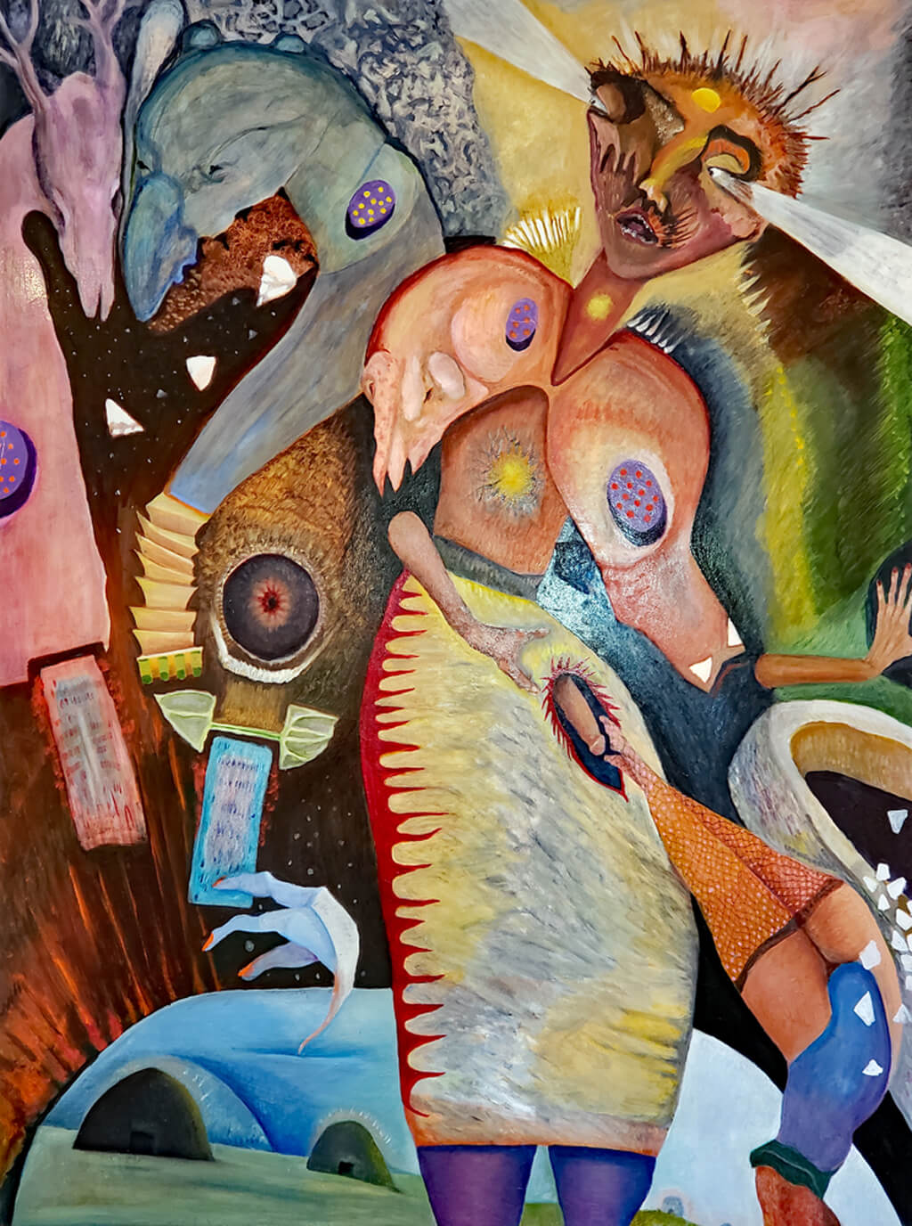 "Adolescence   Oil on wood  48""x36"" 2018"