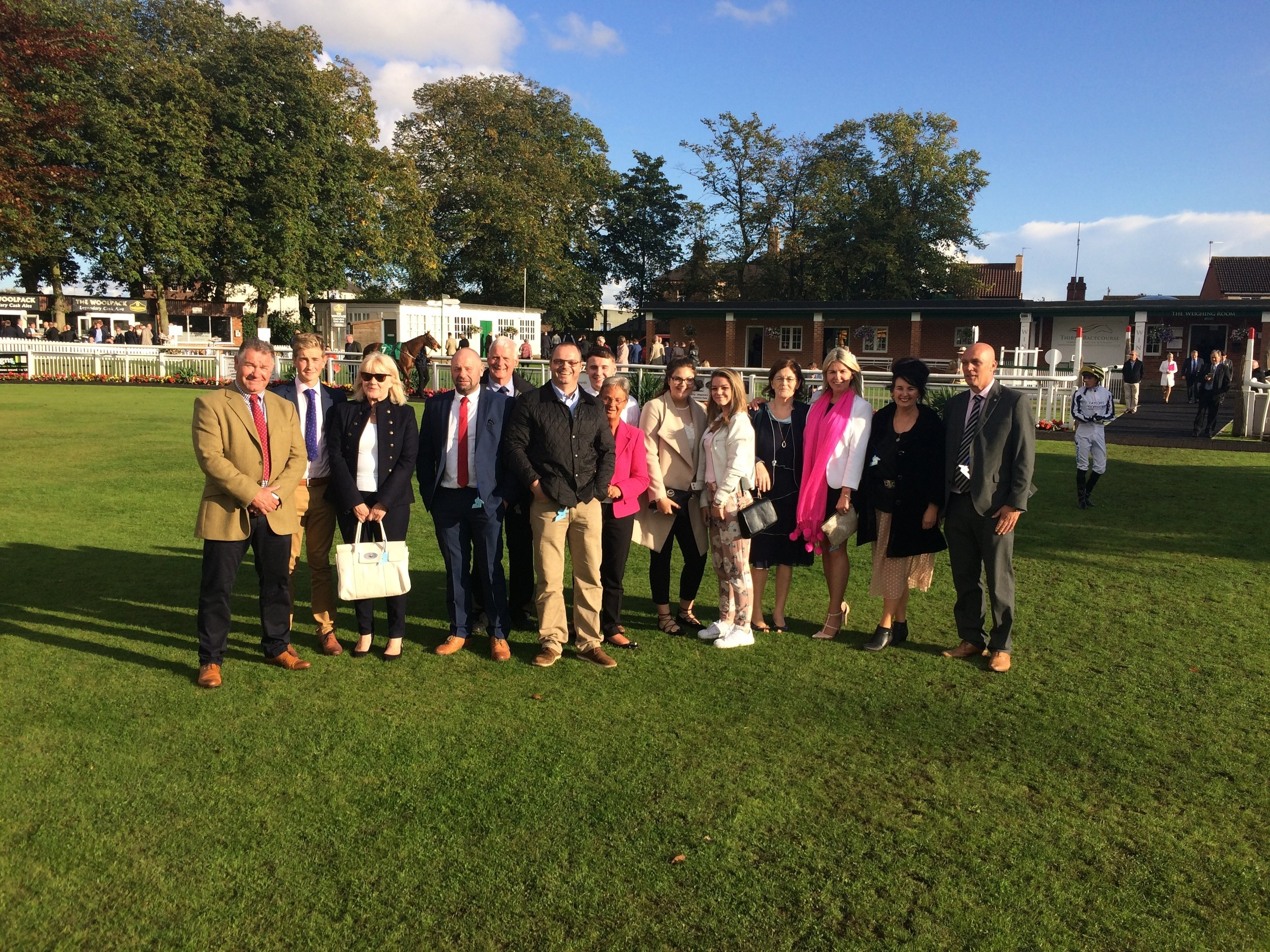 Some of our owners enjoying a day out at Thirsk Races