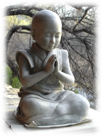 """""""Baby Buddha"""" original clay sculpture, before going into the kiln"""