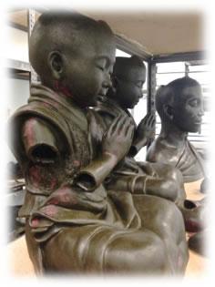 """Baby Buddha"" in wax"