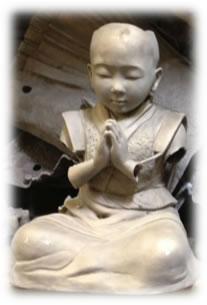 """Baby Buddha"" sculpture before welding"