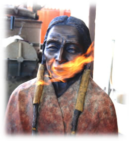 """Spirit Guide"" in patina"
