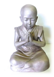 """Baby Buddha"" sculpture after sandblasting"