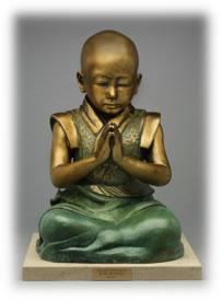 """Baby Buddha"" on his base"