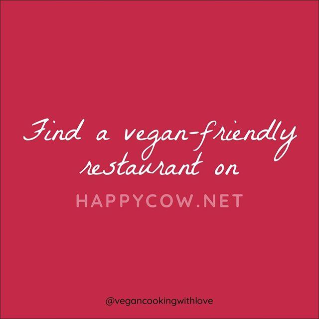 @happycow is a great resource. Check it out.     #govegan #goingvegan #veganchallenge #30dayveganchallenge #30dayveganeating #vegantips #vegantransition #vegan #govegan #vegancookingwithlove #vegancoach #vegantransitioncoach #inspirationalquotes #inspiration #veganinspiration #newvegan