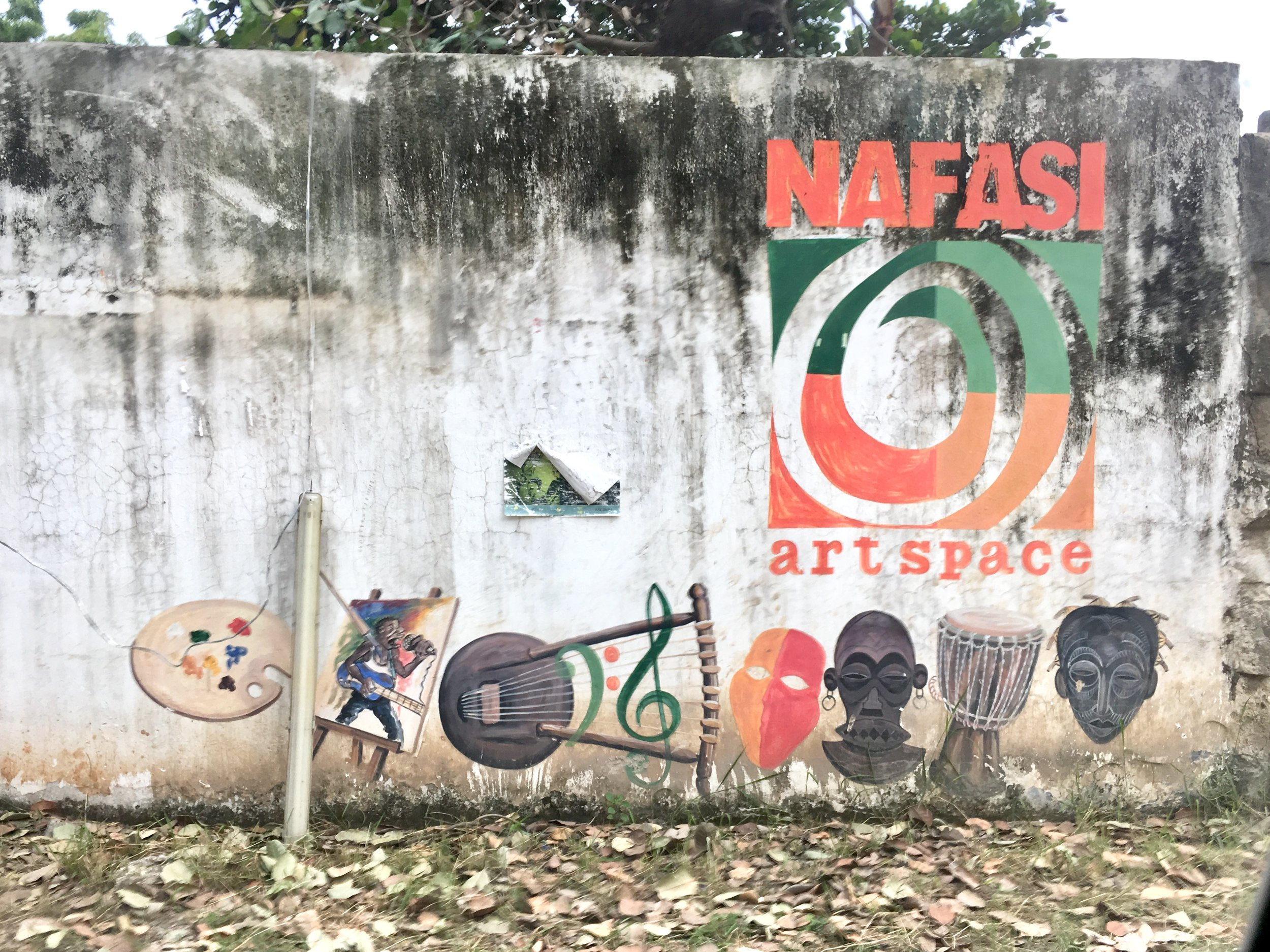 Entrance to Nafasi Art Space.